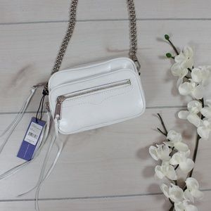 Rebecca Minkoff White Solstice Camera Bag NWT